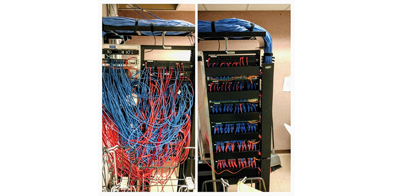 Before and After Rack Cleanup
